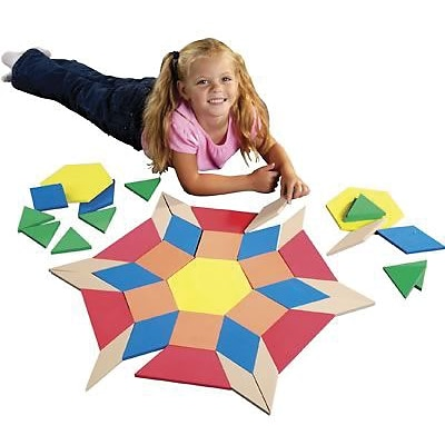 Pattern Blocks, Safe-T® Products Giant Foam Floor Pattern Block Puzzle