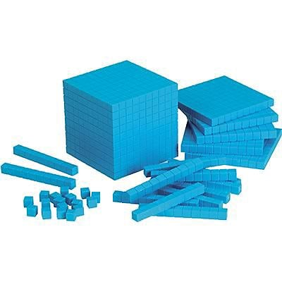 Base Ten & Place Value, Learning Resources® Base Ten Starter Set Blue Plastic
