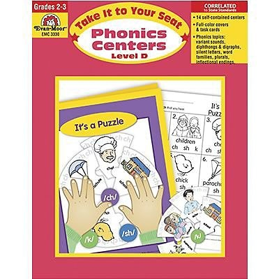 Evan-Moor® Take It To Your Seat Phonics Centers, GR: 2-3