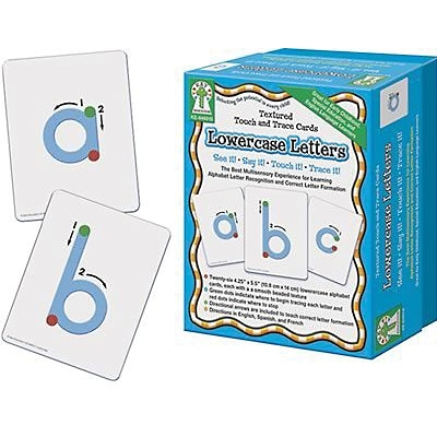 Key Education Textured Touch & Trace Cards, Lowercase Letters