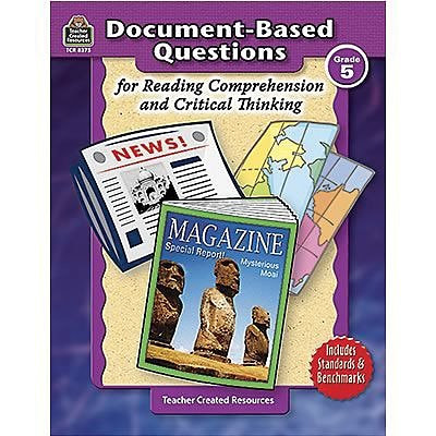 Teacher Created Resources Reading: Comprehension & Critical Thinking, Grade 5