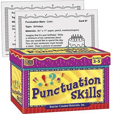 Teacher Created Resources Punctuation Skills Cards