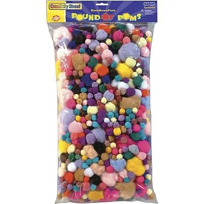Chenille Kraft® Pom Pons, Pound of Poms®