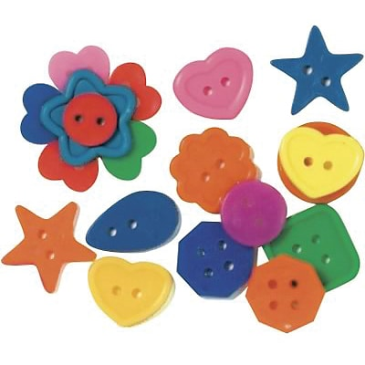 Roylco® Craft Accessories, Bright Buttons™, 1 lb.
