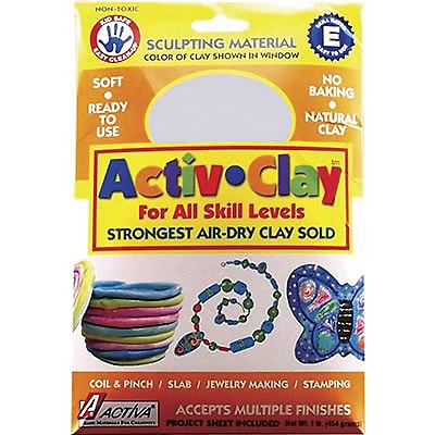 Activa® Modeling Compounds, Activ-Clay® White, 1 lb.