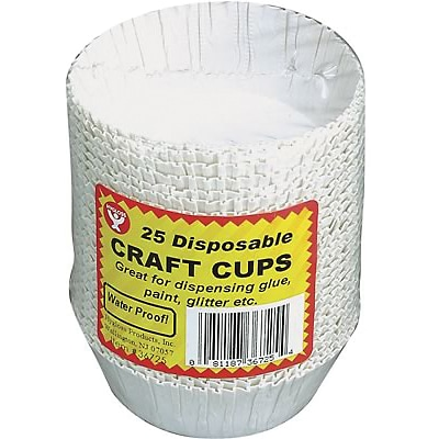 Hygloss Craft Accessories, Craft Cups,  25 Cups