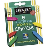 Sargent Art® Flatsiders Non-Roll Crayons; 8/Box