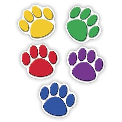 Teacher Created Resources Accents, Colorful Paw Prints