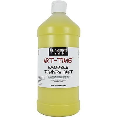 Sargent Art® Art-Time® 32 oz. Washable Tempera Paints, Yellow