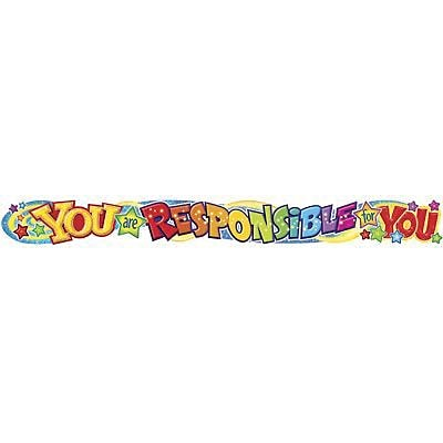 Trend Enterprises® 1st - 9th Grades Banner, You Are Responsible For You