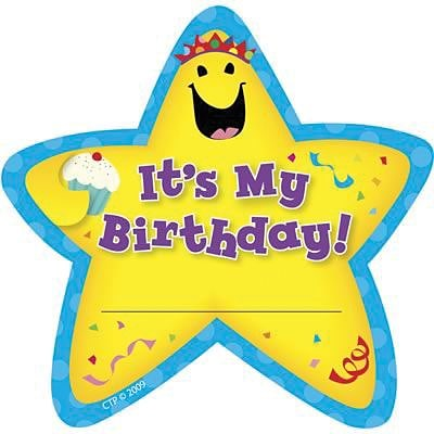 Creative Teaching Press Its My Birthday! Star Badges (CTP1075)
