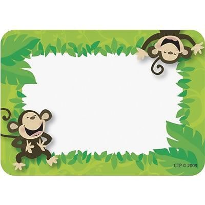 Poppin Patterns™ Name Tags, Monkey Business
