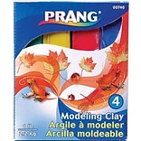 Prang® Modeling Clay, Assorted Colors, 4/Pack (DIX740)