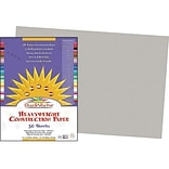 Pacon® SunWorks® Groundwood Construction Paper, Gray, 12(W) x 18(L), 50 Sheets