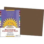Pacon SunWorks Construction Paper 12 x 18, Dark Brown (PAC6807)