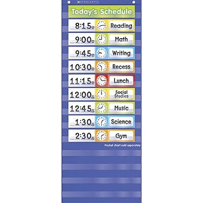 Scholastic - Teachers Friend TF5405 Schedule Cards Pocket Chart Add-ons