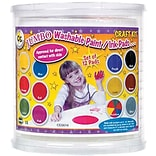 Jumbo Circular Washable Paint/Ink Pads; Craft Kit, 12 Colors