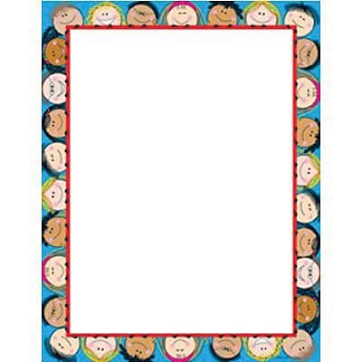 Creative Teaching Press Smiling Stick Kids Computer Paper 11 x 8.5, Blue/White (CTP1436)