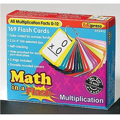 Math in a Flash™ Multiplication Flash Cards