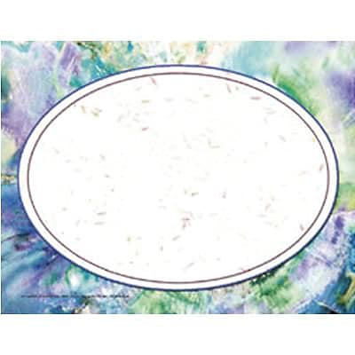 Purple Marble/Oval Border Certificate, 8-1/2 x 11, 50/pkg