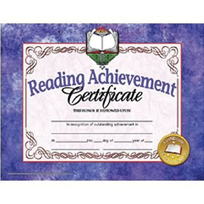 Hayes Reading Achievement Certificate, 8.5 x 11, Pack of 30 (H-VA677)