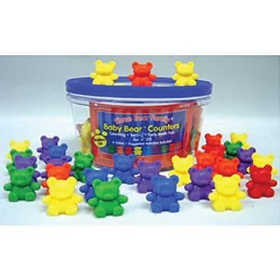 Baby Bear Counters, 6 colors, Set of 102 (LER0729)