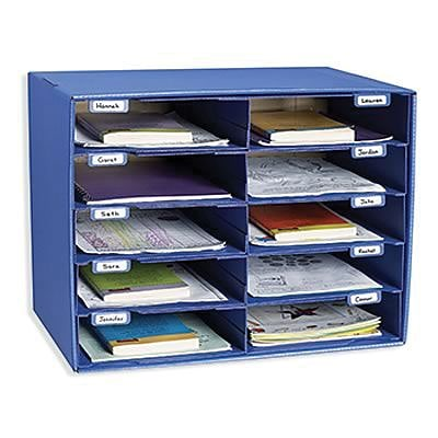 Pacon® Classroom Keepers® Blue Mailbox, 10 Slots (1309)