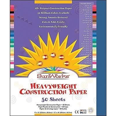 Pacon® SunWorks® Groundwood Construction Paper, Dark Blue, 12(W) x 18(L), 50 Sheets