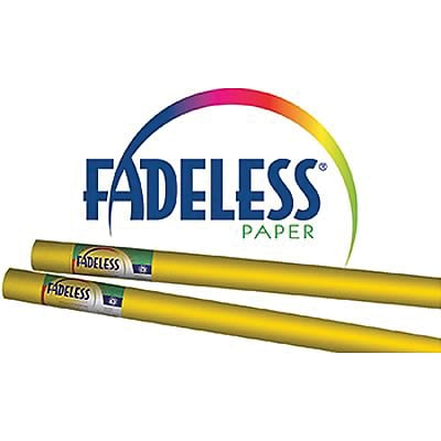 Fadeless® Art Paper Rolls, 48x50, Dark Yellow