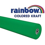 Pacon® Rainbow® 100 x 36 Colored Kraft Paper Roll, Brite Green (PAC66131)