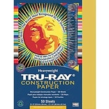 Pacon Tru-Ray Construction Paper 12 x 9, Gold, 50 Sheets (PAC102997)
