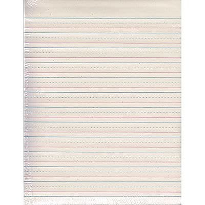 Zaner-Bloser™ Broken Midline Papers, 1/2 x 1/4, Short