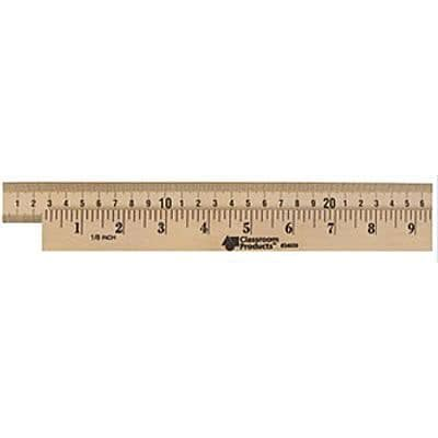 Wooden Meter Stick, Plain Ends