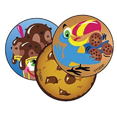 Trend® Stinky Stickers®, Large Round, Lots of Chocolate Scented Chocolate