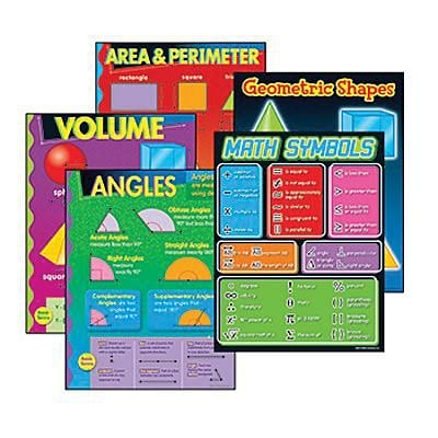 Trend® Learning Chart Combo Packs, Geometry