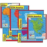 Learning Charts Combo Pack, Continents