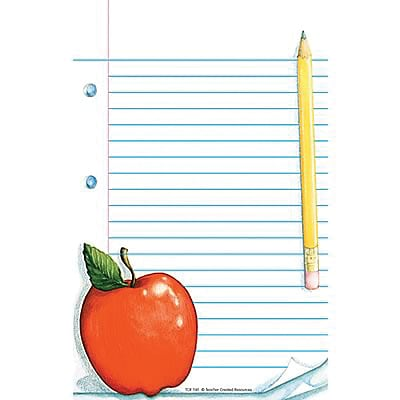 Teacher Created Resources Notepads, Apple