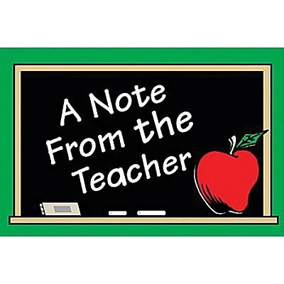 A Note from the Teacher Postcards