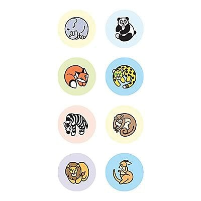 Teacher Created Resources Zoo Animals Mini Stickers, Pack of 528 (TCR4080)