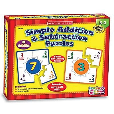 Scholastic Learning Puzzles, Simple Addition & Subtraction