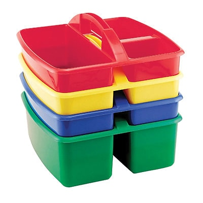 Early Childhood Resources® Assorted Small Art Storage Caddy, 4/Pack