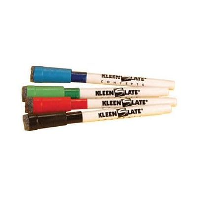 Kleenslate Concepts® Attachable Eraser For Small Barrel, 4/Pack (KLS0432)