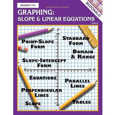 McDonald Publishing Graphing Slope & Linear Equations Repro Book