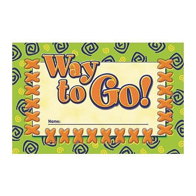 North Star Teacher Resources Way to Go! Incentive Punch Cards, 36 ct. (NST2412)