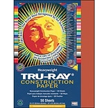 Pacon Tru-Ray Construction Paper 12 x 9, Festive Red, 50 Sheets (PAC103431)