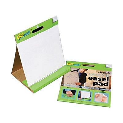 Gowrite! Self-Stick Table Top Easel Pads; 16x15