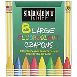 Sargent Art® Large Fluorescent Crayons; 8/Pack