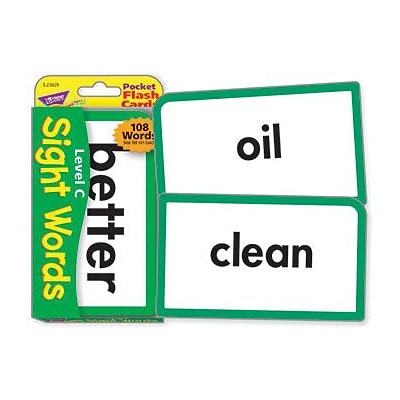 Trend® Pocket Flash Cards, Sight Words Level C