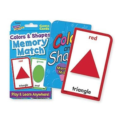 Shapes & Colors Memory Match Challenge Cards for Grades PreK-1, 56 Pack (T-24007)