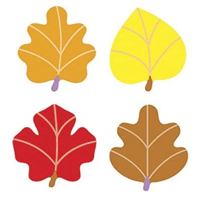 Trend® superShapes Stickers, Autumn Leaves, 4 Designs, 800/Pack